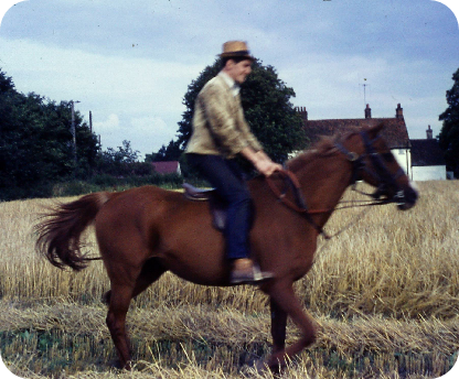On Sister's horse